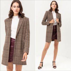 Jackets & Blazers - New wool Checkered long blazer